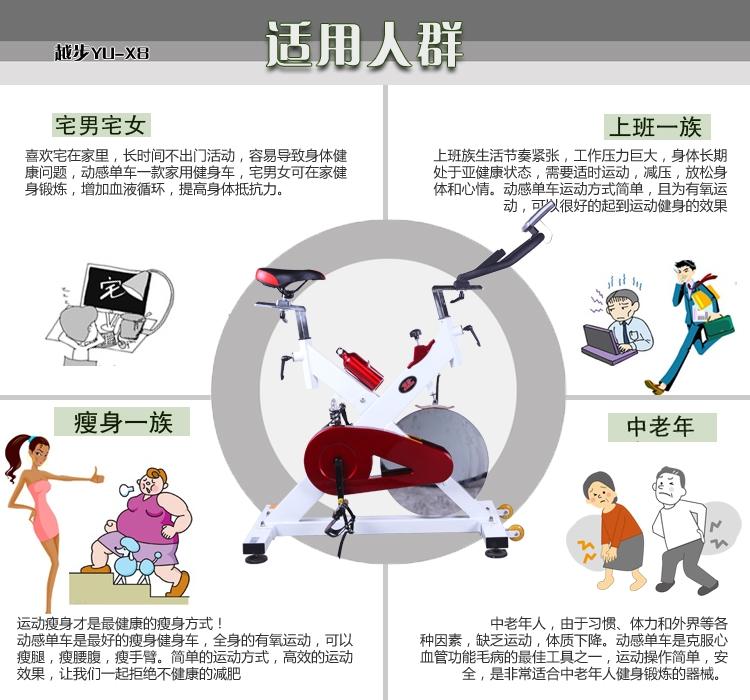 越步健身动感单车X8 适用人群